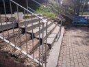 Actuació per rehabilitar les escales d'accés al Pavelló