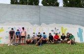 Joves de Taradell pinten un mural al Pipican