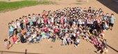 El col·legi Sant Genís i Santa Agnès participa a l'acte reivindicatiu organitzat per Osona Respira