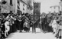 iada de la benedicció de l'estendard de l'Orfeó Taradellench el 24 de juny de 1922. AFT | Família Brussosa