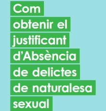 certificat d'absència de delictes de naturalesa sexual