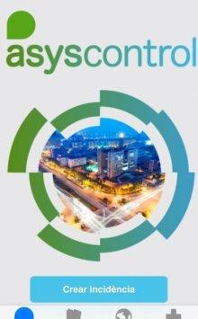 Crear incidència. Entrar a l'aplicació Asyscontrol descarregada prèviament i crear incidència.