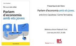 Enric Casulleras presenta el llibre 'Parlem d'economia amb els joves' a la Biblioteca de Taradell