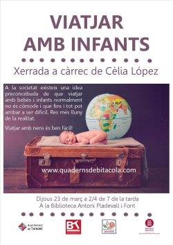 Xerrada 'Viatjar amb infants' a càrrec de Cèlia López
