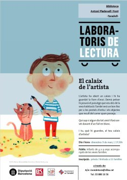Nou Laboratori de lectura pel mes de març: 'El calaix de l'artista'