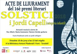 Acte de lliurament del 16è Premi Literari Solstici