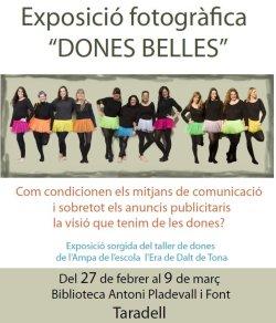 L'exposició 'Dones belles' a la Biblioteca de Taradell
