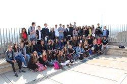 Recepció dels alumnes de l'intercanvi Taradell-Contres