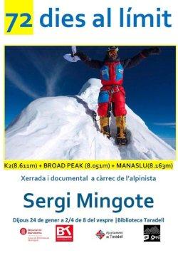 Dijous, xerrada-documental '72 dies al límit' amb Sergi Mingote