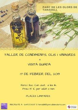 Cartell parc de les olors - Taller condiments, olis i vinagres