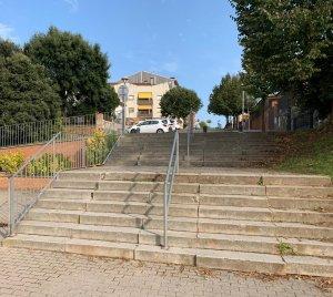 Taradell - Actuació per rehabilitar les escales d'accés al Pavelló