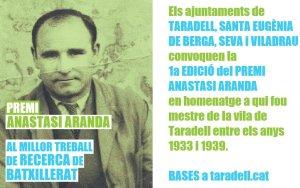 1a edició Premi Anastasi Aranda - 2020