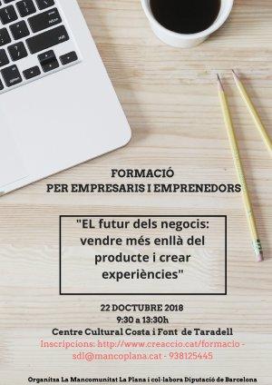 """creacció: """"El futur dels negocis: vendre més enllà del producte i crear experiències"""""""