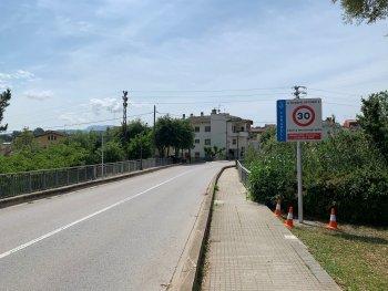 Senyal vertical carrer de la Font