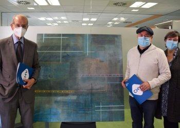 Jesús Ramos cedeix un quadre a l'Hospital de Vic com a agraïment als professionals sanitaris