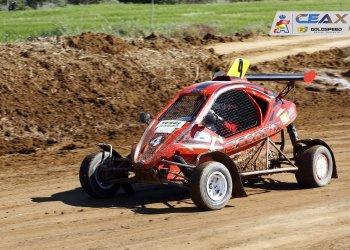 Aleix Costa, segon a Osca en una prova del Campionat d'Espanya d'autocròs