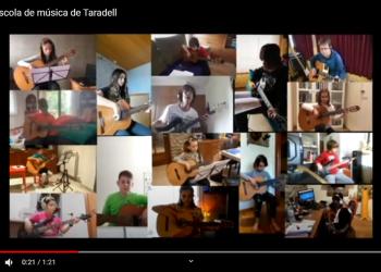 #JoEmQuedoACasa: VÍDEO d''El cucut', amb alumnes de guitarra i baix de l'Escola de Música