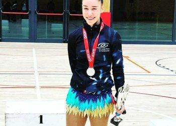Estel Serrat, segona al Campionat de Barcelona de patinatge