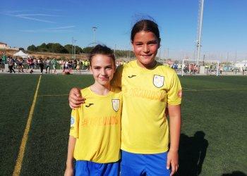 Dues taradellenques participen a les Trobades Territorials Femenines de futbol amb la selecció Osona