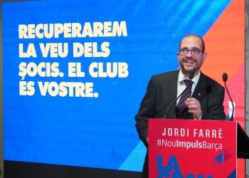 Jordi Farré, afincat a Taradell, presenta la seva campanya per presidir el FC Barcelona