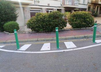 Obres de millora a la cruïlla de la carretera Balenyà amb el carrer Catalunya