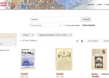 La Biblioteca digitalitza la revista 'Taradell' i programes de festa major històrics