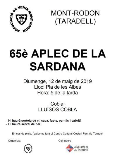 Cartell Aplec Sardana Mont-rodon