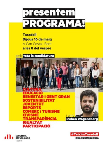 Cartell programa ERC