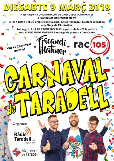 CARNAVAL TARADELL cartell 2019 definitiu