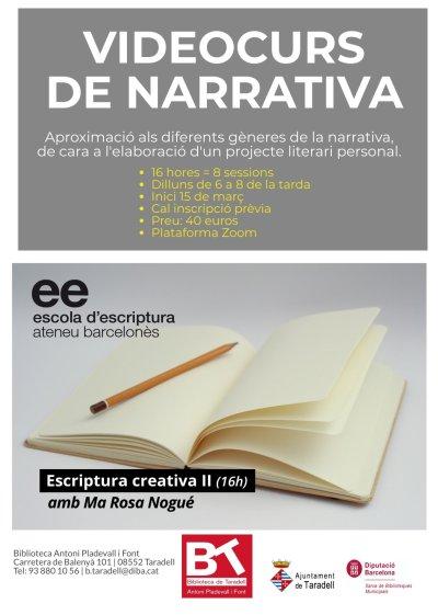 cartell escriptura creativa 2021