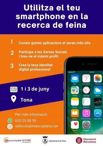 curs desenvolupament local - utilitza smartphone recerca feina