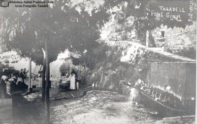 La Font Gran, fotografiada l'any 1935