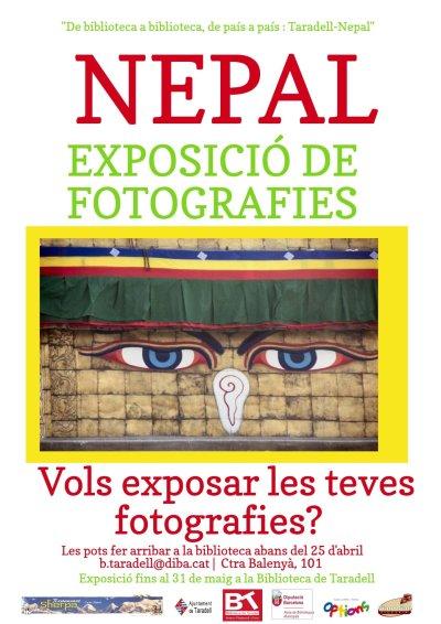 Cartell Exposició de fotografies Nepal