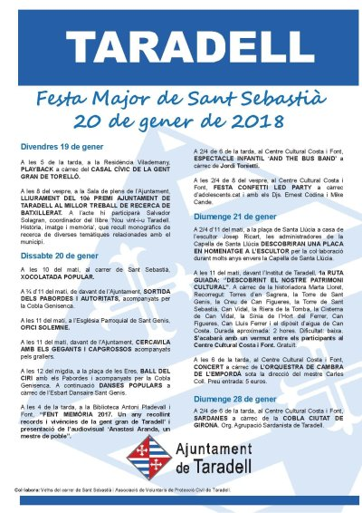 Festa Major d'Hivern 2018
