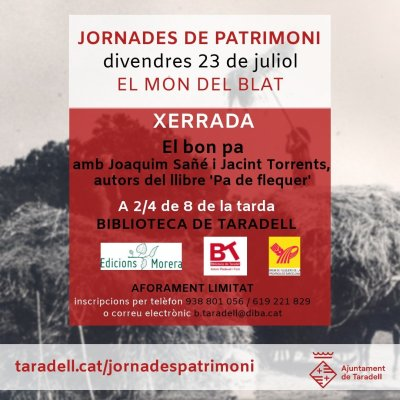 Flyer Xerrada 'El bon pa'