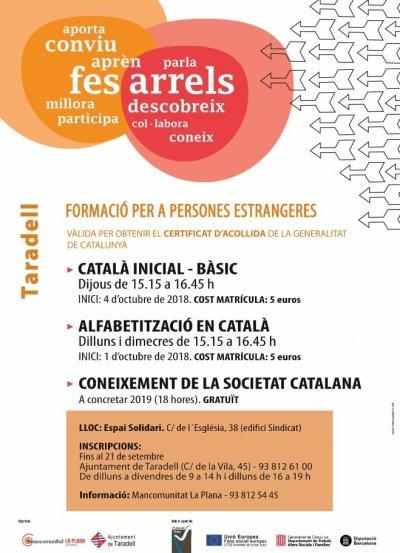 curs català per a persones estrangeres 2018-2019