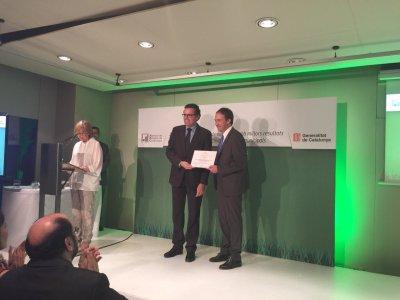 Foto recollida del premi en millor recollida selectiva de Catalunya