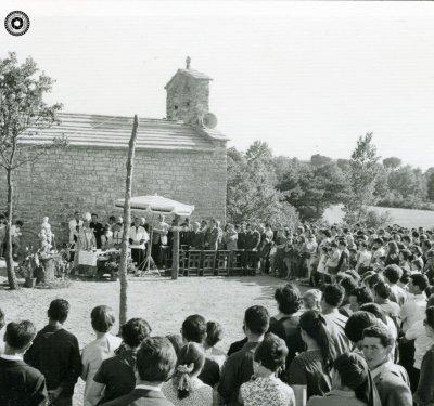 Festa de benedicció del restaurant de La Roca, el 2 de juliol del 1967 (Arxiu Fotogràfic Taradell | Autor desconegut)