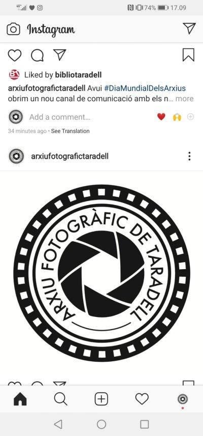 Pantallassu Instagram Arxiu Fotogràfic