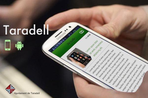Aplicació mòbil Banner