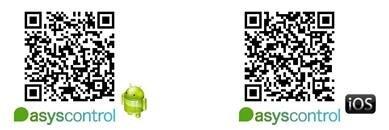 Descarrega't l'aplicació d'Asyscontrol per Android o per iOS
