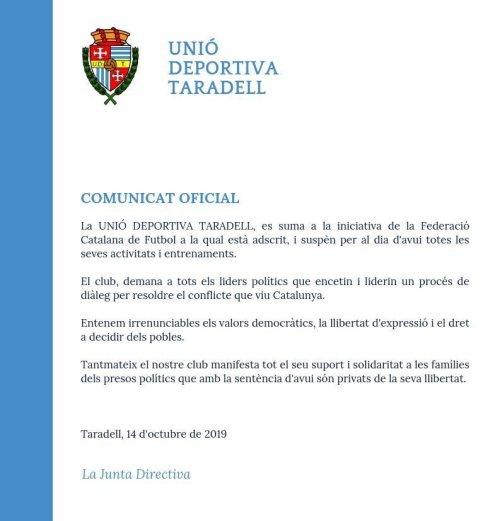 Comunicat UD Taradell
