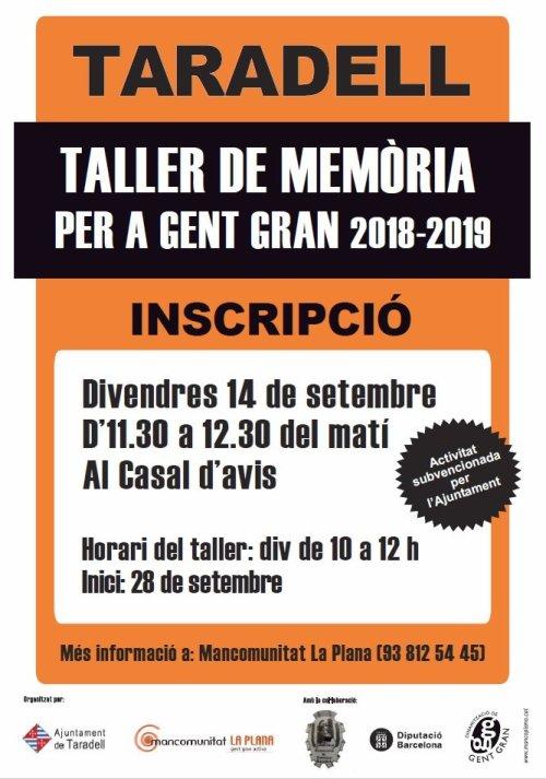 Taller de memòria 2018-2019