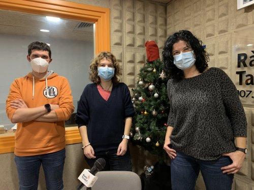 Cristian Parras, Marta Ramírez i Ester Torrents, responsables de 'Cançons positives'.