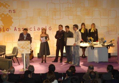 Recollida del premi per la retransmissió del Ral·li de Viladrau.