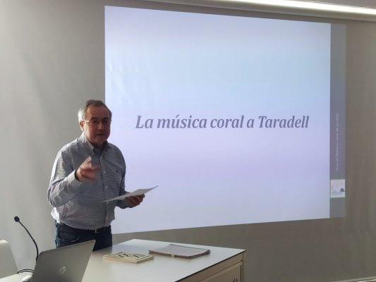 Xavier Burillo parla de la música coral a Taradell a la jornada Cultura Viva