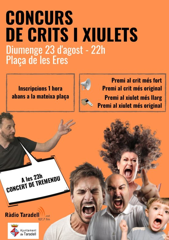 Cartell concurs crits i xiulets