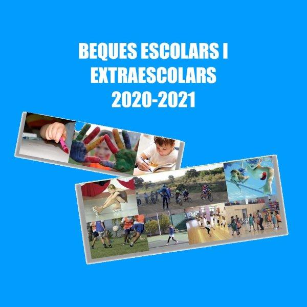 Cartell - Beques escolars i extraescolars 2020-2021