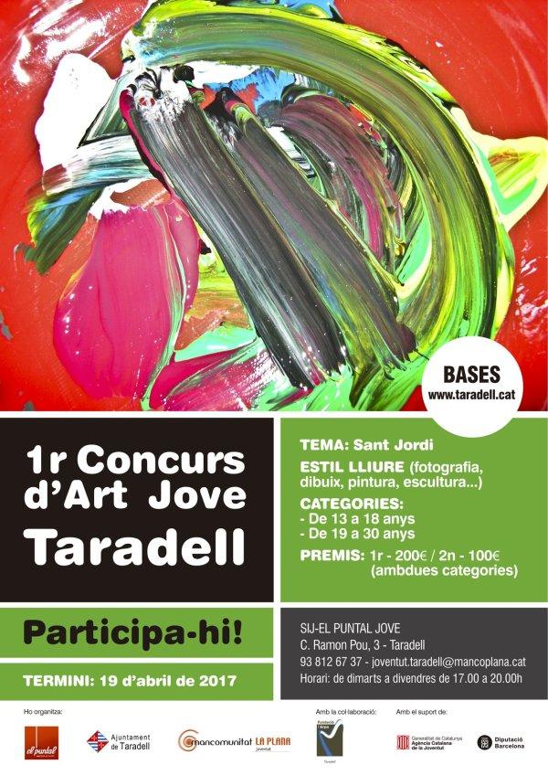 Cartell 1r Concurs d'Art Jove