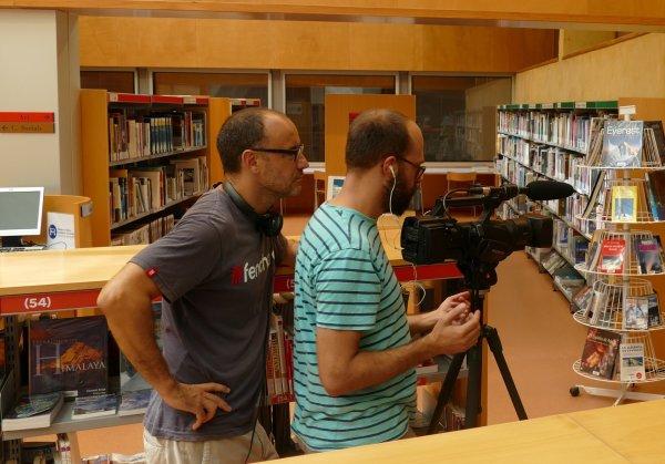 INNOCENTADA La biblioteca de Taradell serà un dels escenaris de la nova sèrie de TV3 que s'emetrà a la primavera